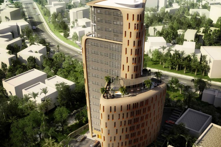 MAX Architects project Ramzi Towers Birds Eye View
